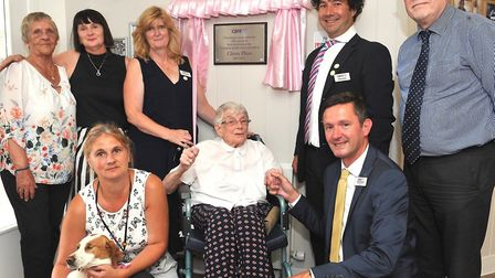 A new plaque was unveiled at Cleves Place to mark the special occasion Picture: LUCY TAYLOR PHOTOGRA