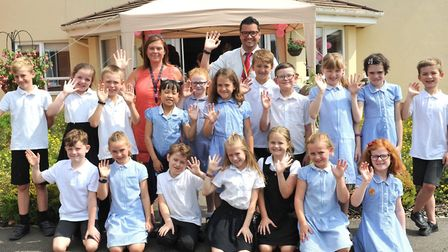 Children from Coupals Primary School in Haverhill performed songs from their recent play at the even