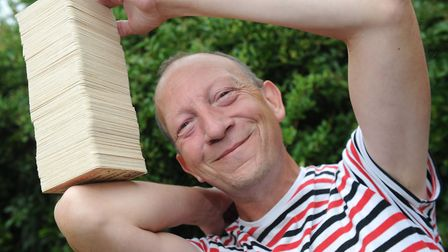 Felixstowe record holder Dean Gould is to explain how he flips beer mats Picture: LUCY TAYLOR