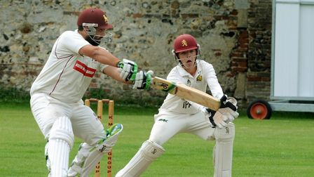Ben Reece, who hit the penultimate ball to the boundary to clinch victory for Sudbury at Horsford. P