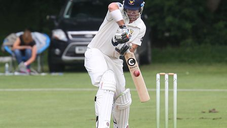 Kyran Young, who scored 139 for Suffolk against Hertfordshire. Picture: RICHARD MARSHAM/RMG PHOTOGRA