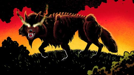 The 'hell hound' Black Shuck is to feature in a new graphic novel Picture: RYAN HOWE