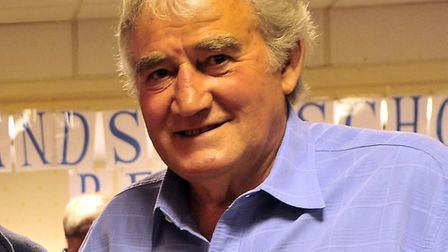 Dennis Thrower, pictured at a Landseer Old Boys reunion in 2012. Photo: Archant