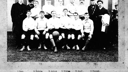 The 1901-02 Long Melford team face the camera Picture: SUPPLIED BY JOHN NUNN