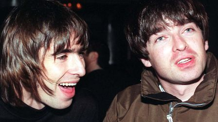 Oasis stars Liam and Noel Gallagher in 1996. Picture: PA/Fiona Hanson