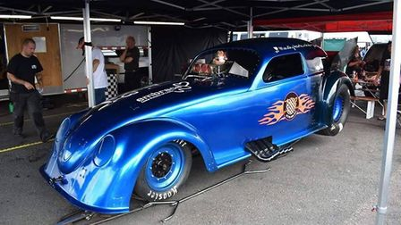 Nitro Bug is half-Volkswagen Beetle and half-finely tuned drag racing car, with over 6000bhp under i
