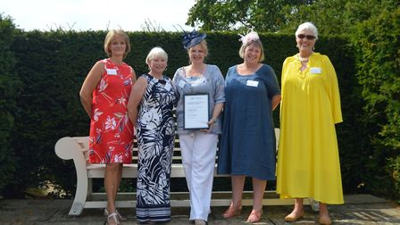 The current committee of Long Melford WI. Photo: Julie Thomson.