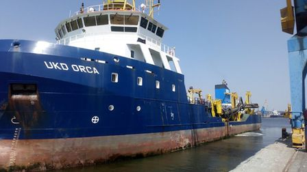 The UKD Orca has returned to Ipswich for its annual dredging campaign, aimed to maintain and improve