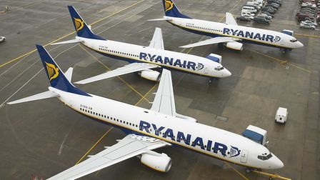 Ryanair crews are striking across five countries, affecting some flights to and from the UK Picture: