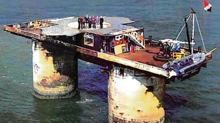 Richard Royal had hoped to be the first person to attempt the swim from Sealand Picture: RICHARD ROY
