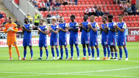 The minute's applause at Rotherham for Barry Chuckle who passed away recently Picture Pagepix