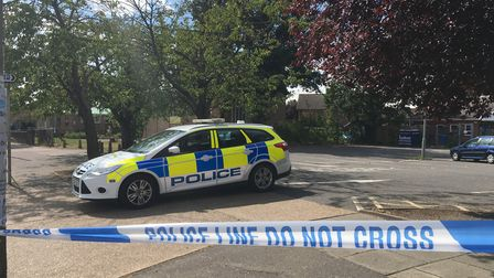 Police were called to Hawthorne Drive on Saturday afternoon, placing a cordon and stopping traffic P