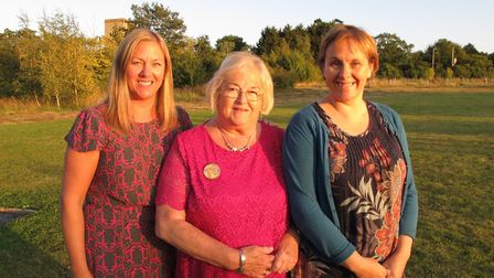 Linda Cadman (centre) with her daughters Carolyn (left) and Louise (right) Picture: CADMAN FAMILY