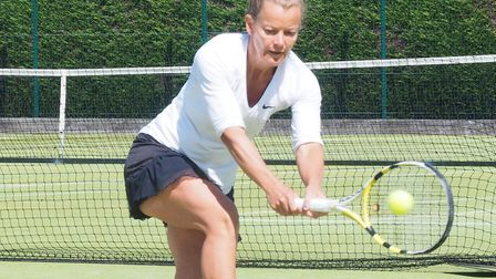Katie Tassell won her 11th Suffolk ladies' title at the Framlingham Tennis Tournament. Picture: ANTH