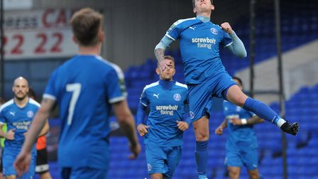 Christy Finch scored Leiston's first in their win over Coalville Town. Picture: SARAH LUCY BROWN