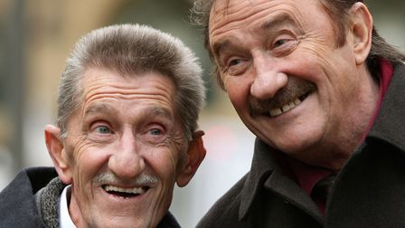 Chuckle Brothers, Barry (left) and Paul Elliott. Picture: Yui Mok/PA Wire