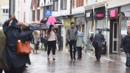 High streets across the East of England are set for a dousing after the hot weather, but the sudden