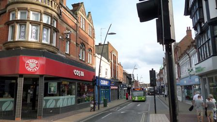 Upper Brook Street, Ipswich was the scene of a stranger rape early yesterday morning Picture: DAVID