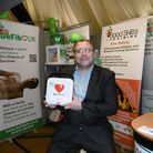 Ian Bodsworth, sales director of DeFib UK, at the Anglia Business Exhibition. Picture: David Vincent