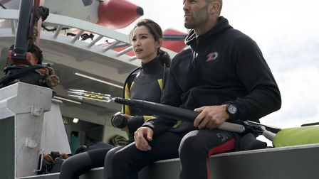 Lil Bingbing as Suyin and Jason Statham as Jonas Taylor. Picture :PA PHOTO/WARNER BROS PICTURES/DA