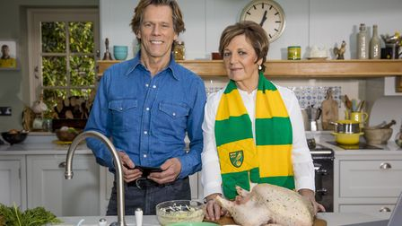 Delia Smith and Kevin Bacon star in the latest EE advert, Picture: Tom Dymond