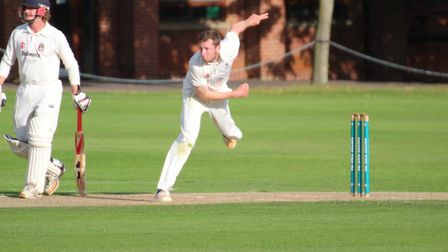 Sudbury bowler James Poulson, who top-scored with 62 not out before also impressing with the ball in