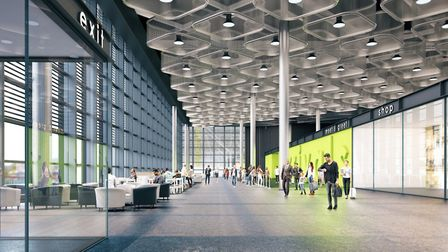 CGI of Stansted's new international arrivals concourse. Picture: London Stansted Airport