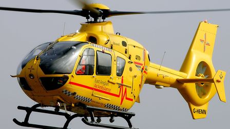 An air ambulance touched down on the A14 after a collision (stock image) Picture: SIMON PARKER