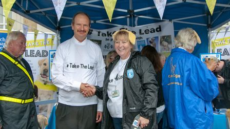MP Sandy Martin with Helen Sismore, from Guide Dogs UK Picture: IPSWICH BOROUGH COUNCIL