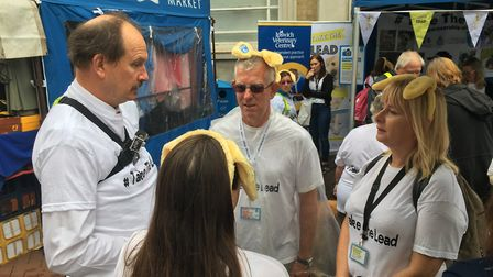 Mr Martin said the walk gave him a better appreciation of the challenges faced by blind and partiall