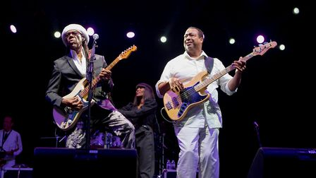 Nile Rodgers and Chic Credit: Andy Tattersall/The Jockey Club Live