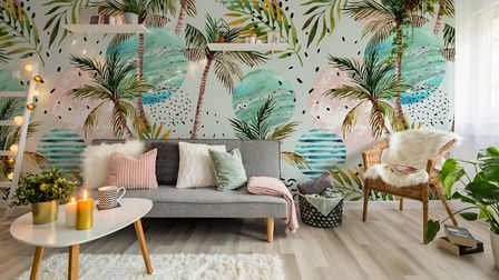 Pick A Leafy Pattern Art Illustration With Palm Tree Doodle mural, �301, Pixers. . Picture : Pixers