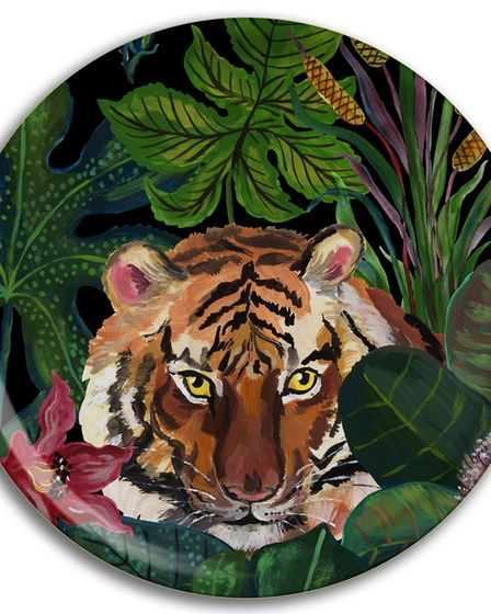 Walk On The Wild Side With Animal Prints Avenida Home Tropical Tiger Tray, �32, Eclect Design. Pic