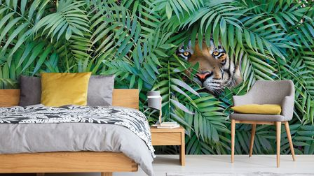 Walk On The Wild Side With Animal Prints Tiger Wallpaper, Wallpaper Mural, from �30 per square metr