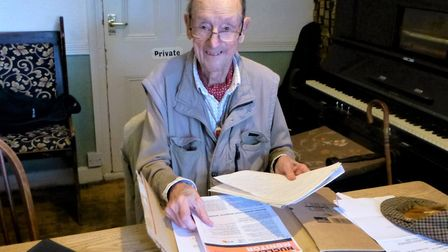 Charles Barnett in his later years Picture: CHRIS URE