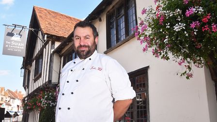 Lavenham Swan chef Justin Kett has won Chef Of The Year in the Eat Suffolk Awards. Picture: Nick Bu
