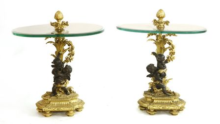 A pair of Rod Stewart's gilt bronze-mounted side tables. Picture: Sworders fine art auctioneers