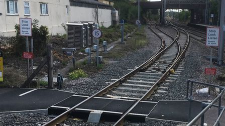 The crossing at Marks Tey that needs to be replaced or upgraded before regular services between Sudb