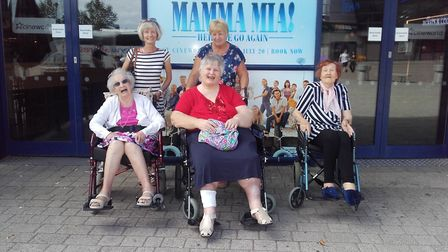 Residents from Mill Lane Nursing Home on their trip to see the new Mamma Mia film Picture: HEALTHCAR
