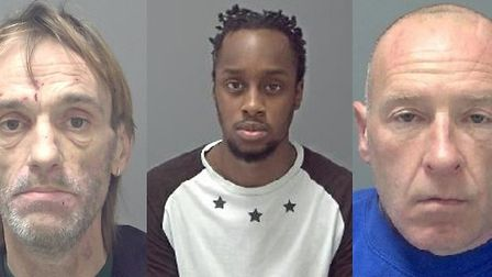 Tecwyn Parker, Daniel Kaganda and Jason Ruby jailed for Trimley father-of-five's murder Picture: SUF