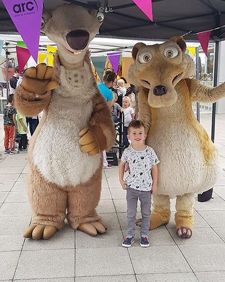 Ice Age characters at the Arc Shopping Centre. Picture: NATALIE SEYMOUR