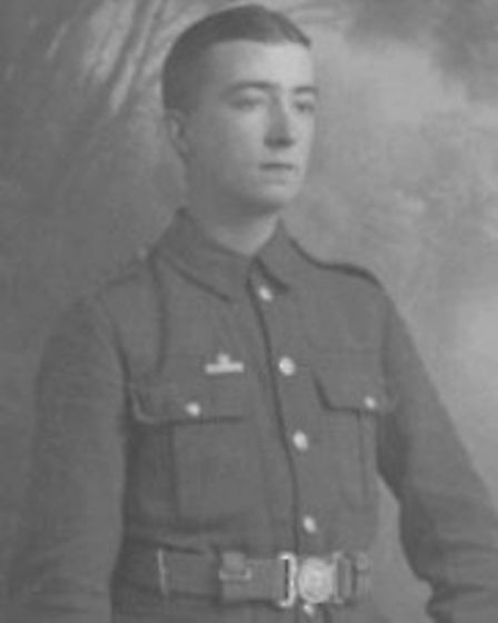 Private Albert Bursford, from Newmarket, will now be commemorated on a wall of honour Picture: SUPPL