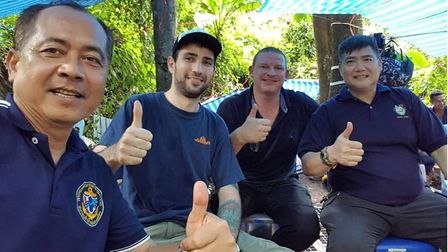 Diver returns home to Essex after helping to save lives of cave boys in Thailand