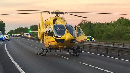 The East Anglian Air Ambulance touched down to help with the emergency (stock image) Picture: SGT CO