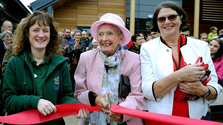 Margaret Maybury (far right) at the opening of the Lavenham Pre-School building Picture: ANDY ABBOTT