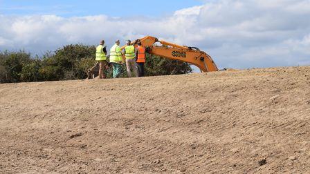 Work on the sea defences at Walton on the Naze. Picture: TENDRING COUNCIL