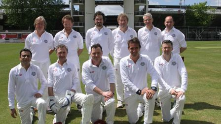 The Authors Cricket Team, pictured at Lords before a previous match: THE AUTHORS