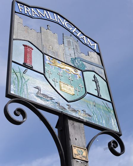 Framlingham town sign. Picture: SARAH LUCY BROWN