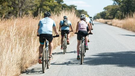 The Wild Ride team covered up to 100km a day, often on unmade roads Picture: DSWF