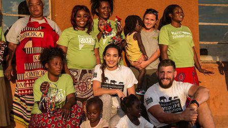 Laura sang and danced with a women�s outreach group in Zambia Picture: DSWF